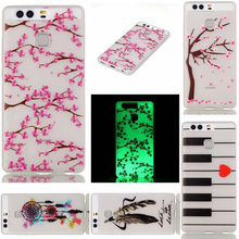 Fashion Fluorescence TPU Slim Printing Phone Cases HuaWei P8Lite P9 Lite Luminous Soft Silicon Cover Case - Shenzhen Xiao Pin Trade Co., Ltd store