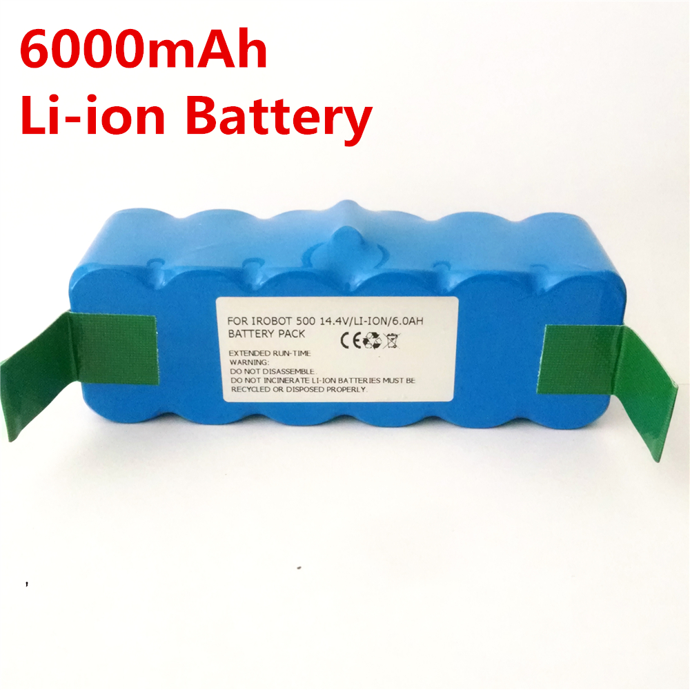 6000mAh Li-ion Battery for iRobot Roomba 500 532 540 550 570 580 R3 510 562 610 700 Vacuum cleaner Battery Australia delivery(China (Mainland))