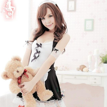 Buy 2017 Sexy Lingerie Sexy Underwear Lovely Female Maid Lace Sexy Miniskirt Lolita Maid Outfit Sexy Costume Sex Products