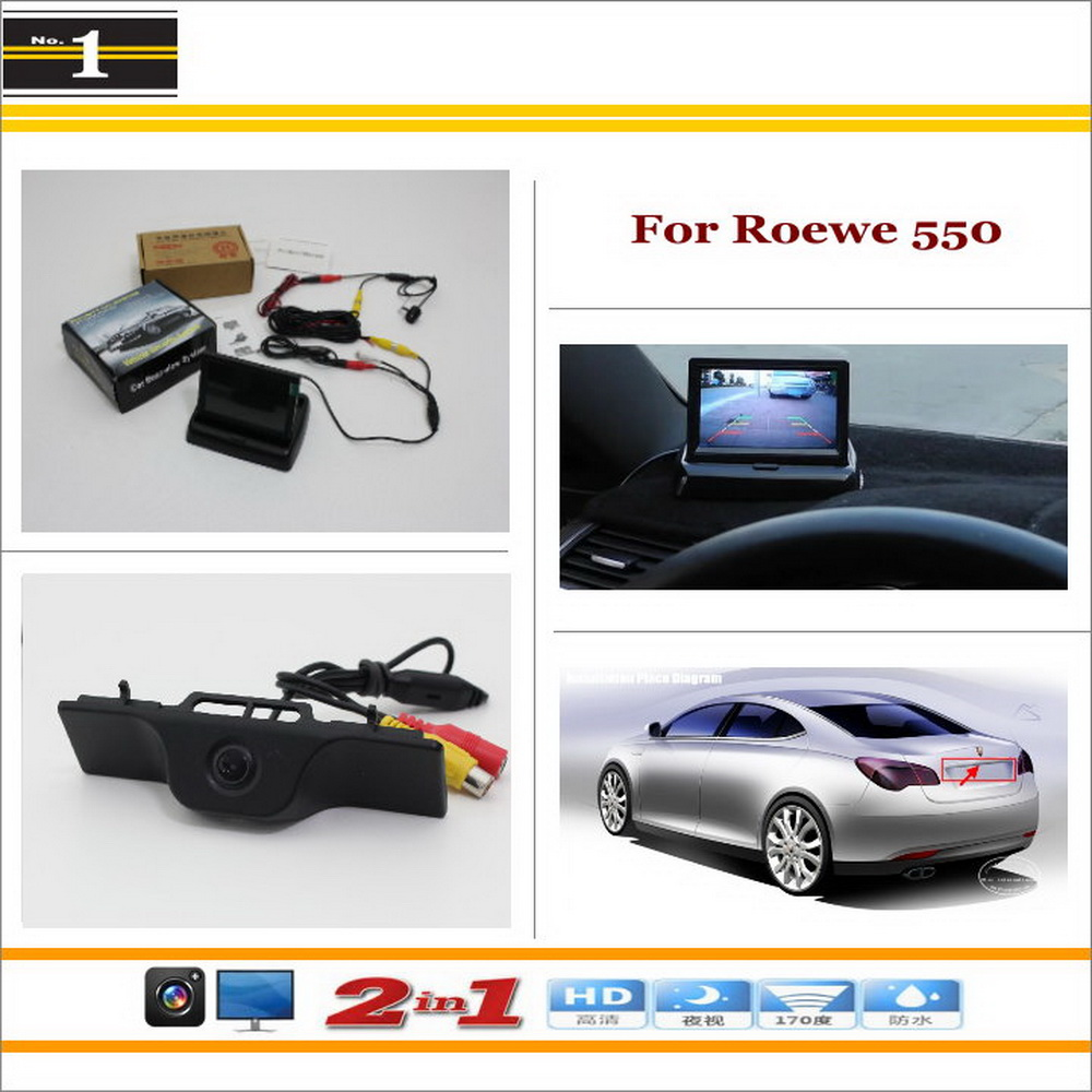 """In Car 4.3"""" Color LCD Monitor + Car Rear Back Up Camera = 2 in 1 Park Parking System - For Roewe 550(China (Mainland))"""