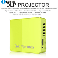 Korea Free Shipping UC50 Mini DLP Pico Projector HDMI Home Theater beamer multimedia 800lumens Projektor Beamer proyector 1080P