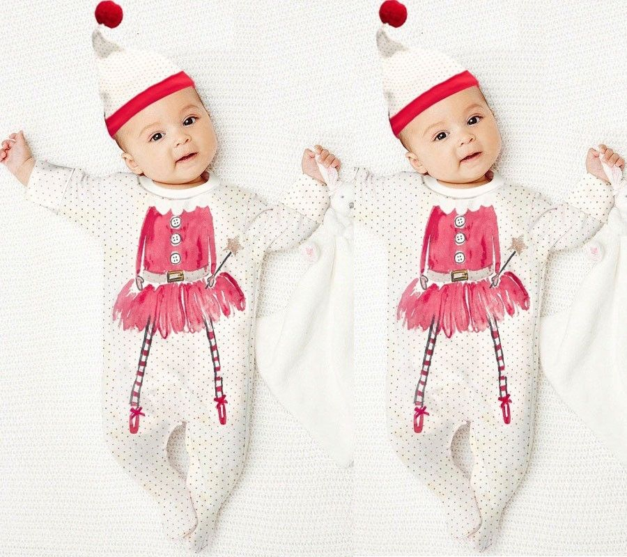 Christmas Baby Boy Girls Clothes pattern baby Romper baby