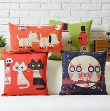 Nordic American Cute cartoon Animal cotton pillow cushion