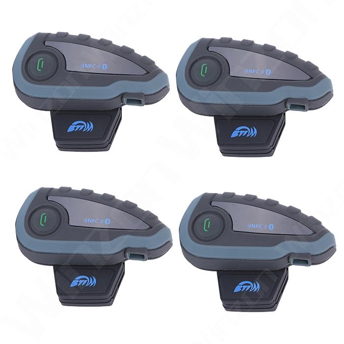4 pcs/lot, V8 Motorcycle Bluetooth Helmet Intercom Headset 5 Riders Intercomunicador Interphone support Remote Control FM NFC(China (Mainland))