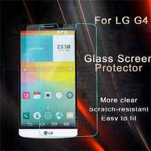 Hight Quality 9H 0.26mm Premium Tempered Glass Film Skin Cover Screen Protector For LG G4(China (Mainland))