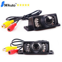 Free shipping Wireless 2.4G transmitter 7 IR LED Night Vision Waterproof Car Rear view car reverse camera for GPS Navigation