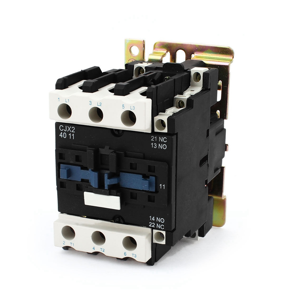 Rated Current 40A 3Poles+1 NC+1NO 220VAC Coil Voltage AC Contactor Motor Starter Relay DIN Rail Mount