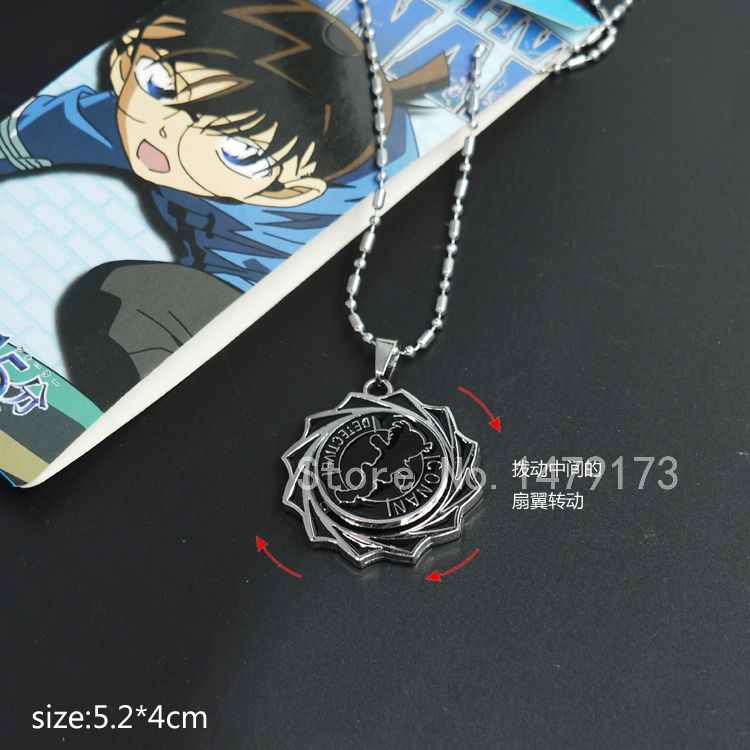 Cartoon Detective Conan metal can turn pendant alloy fashion necklace - Moonsytoy store