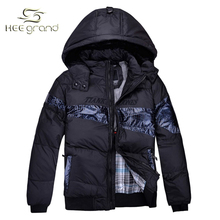 2015 New Fashion Mens Winter Jackets With Hood Outdoor Patchwork Hot Selling Warm Parka For Man Drop Shipping MWM862