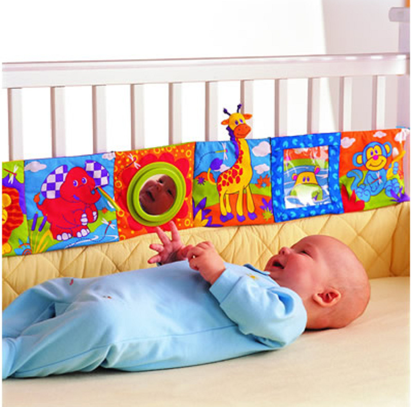 Retail Baby Toys Baby cloth book knowledge around multi-touch multifunction fun and colorful Bed Bumper(China (Mainland))