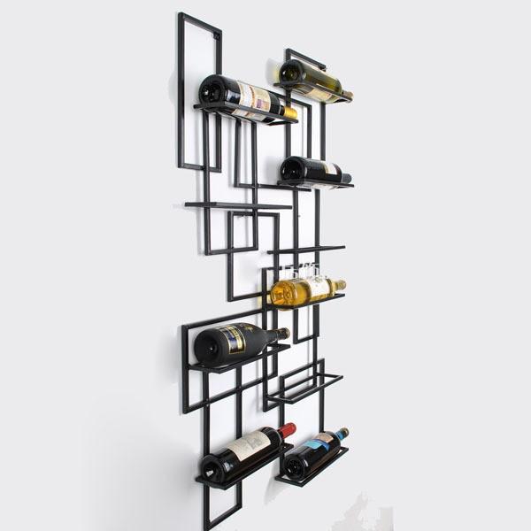 Creative Home Fashion Wrought Iron Wine Rack Wall Mounted