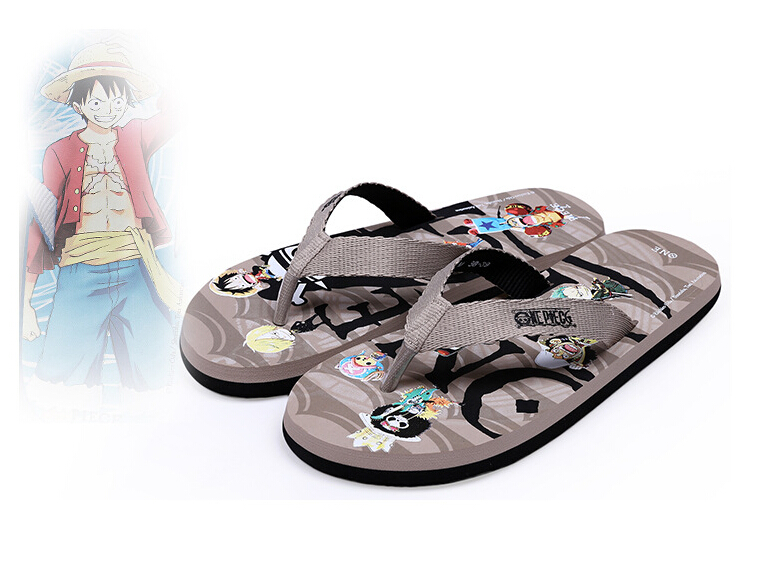 2016  One Piece Portgas D Ace  Mens and Womens fashion flip-flops sandals slippers Cartoon slippers EVA Unisex<br><br>Aliexpress