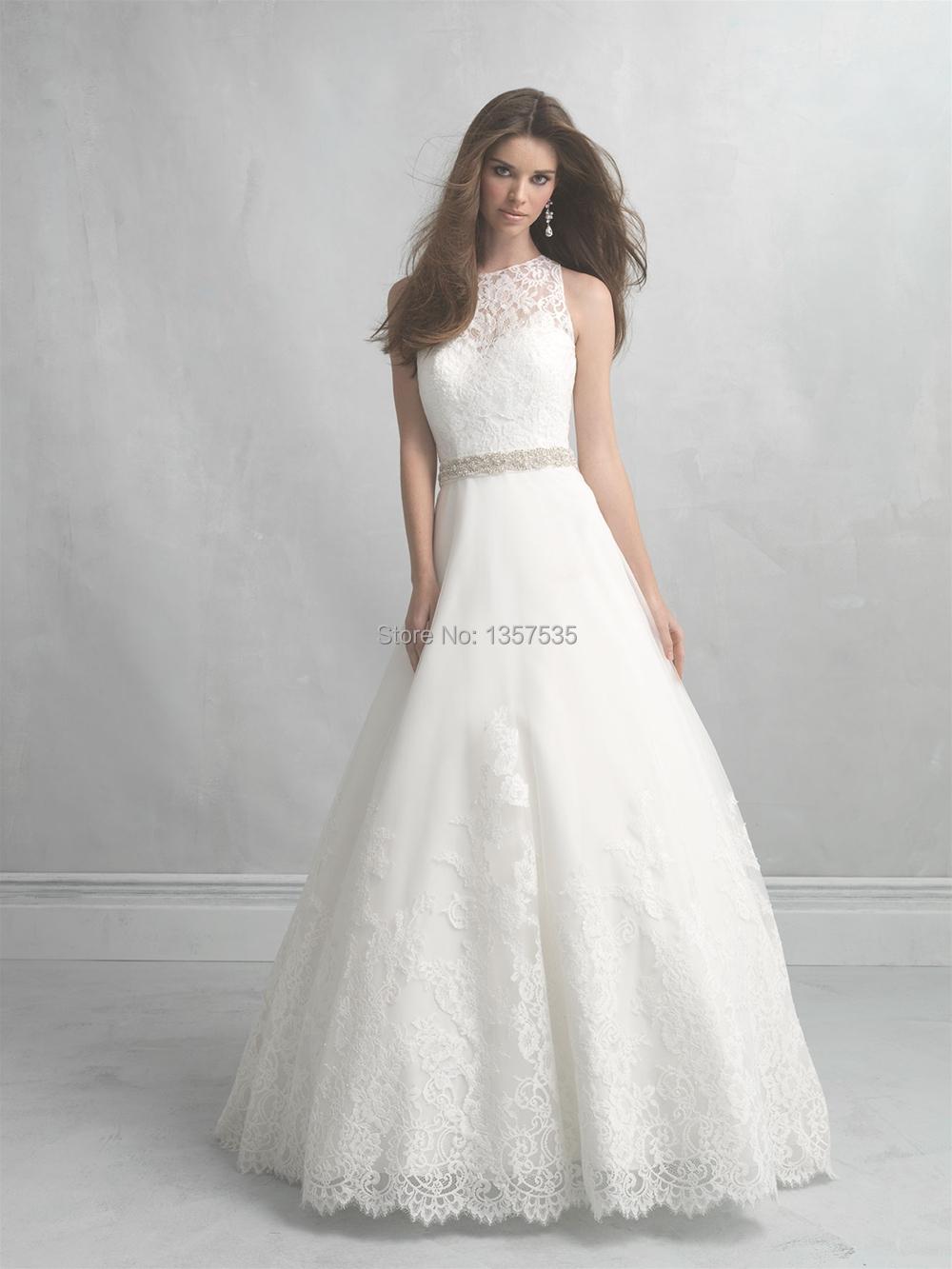 Wedding Dress Lace Cut Out Back : A line wedding dresses tank abiti da sposa beading
