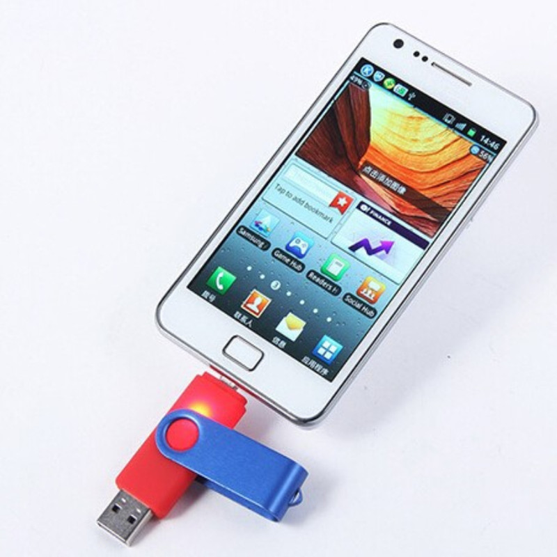 OTG usb flash drive pen drive 4gb 8gb 16gb 32gb 64gb micro usb Smart Phone pendrive external storage Memory stick for Samsung(China (Mainland))