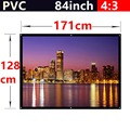 whole sale 84 Inch 4 3 PVC Fabric Matte With 1 1 Gain projection screen Wall