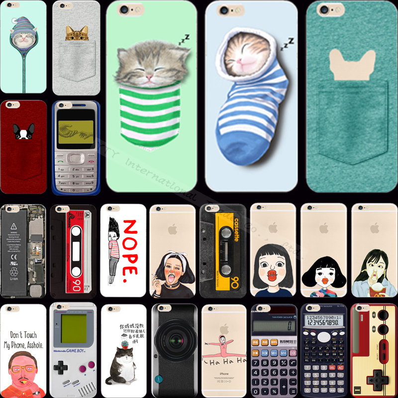 Hot!! Funny Cat Thick Lips Odd Girl Silicon Phone Cases For Apple iPhone 6 iPhone6 4.7'' Case Shell Cover CYS PWA UTS WASS PTHCN(China (Mainland))