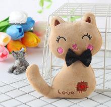 Baixo bonito kitty gigi gato coelho bichos de pelúcia brinquedos saco do telefone pingente chaveiro para meninas coelho de pelúcia oyuncak juguetes olá(China)