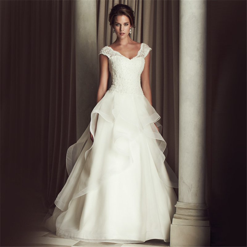 Buy jeanne love cap sleeves a line for I love wedding dresses