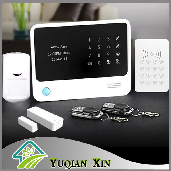 2015 new arrival factory price wifi alarm system wireless GSM home burglar alarm system + keypad can work with IP camera(China (Mainland))