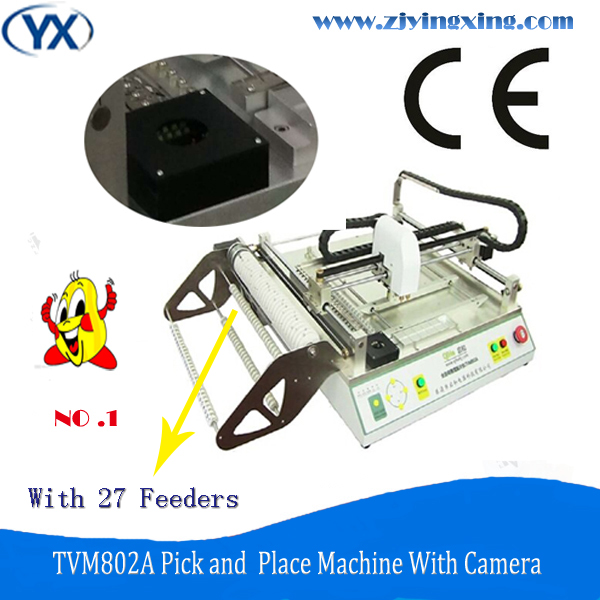 The best price multifunctional high speed surface mount system pick and place machine TVM802A with camera and made in China(China (Mainland))