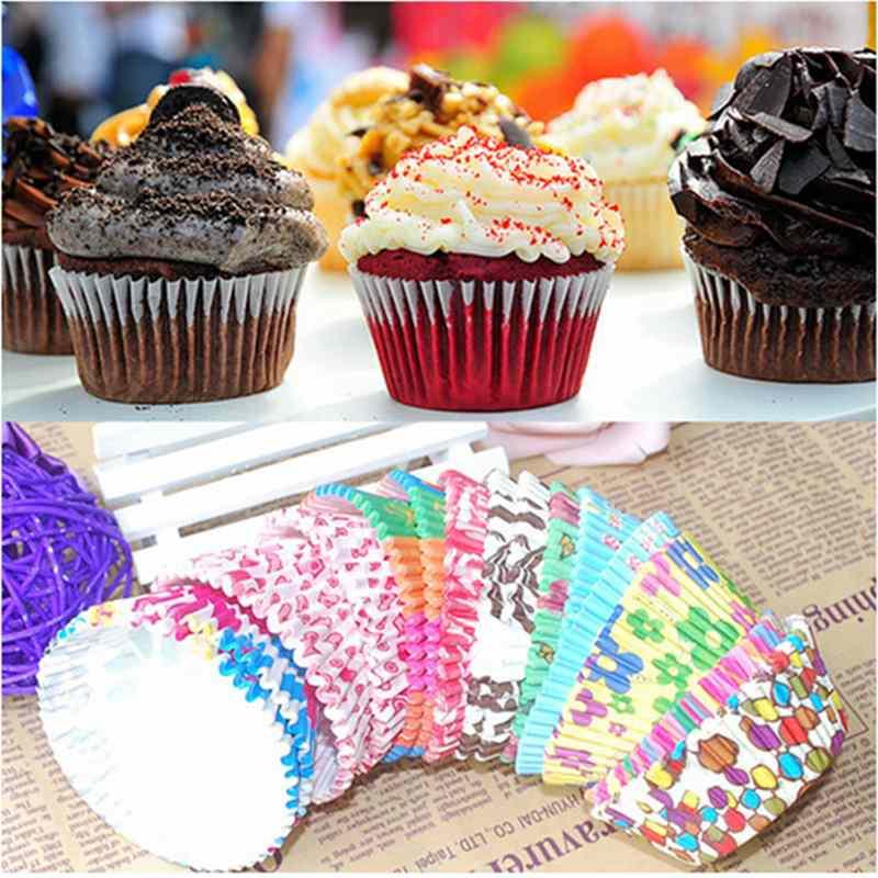 Hot Sale 100pcs/1Set Original Mini Round Cake Paper Holds Greaseproof Baking Cupcake Cases Wedding Decoration Cake Supplies(China (Mainland))