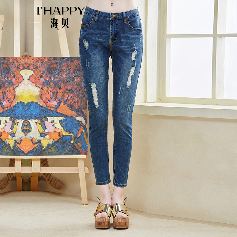 Popular  The Fling Tattered Destroyed Relaxed Jeans In Blue TATTERED DESTROY
