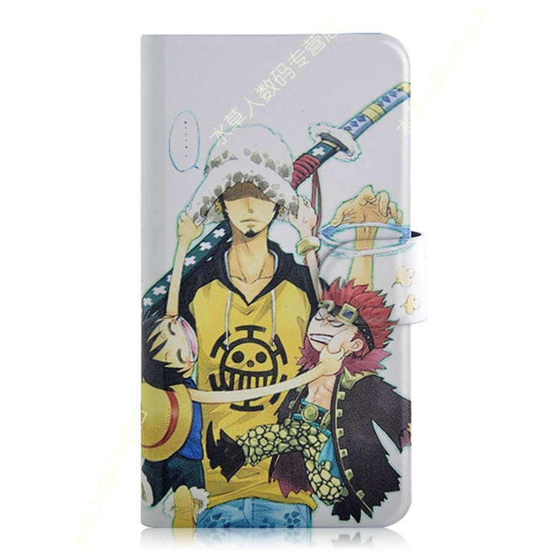 Newest Cartoon Animation One piece PU Leather Magnetic Flip Case Cover for blackberry Q5(China (Mainland))