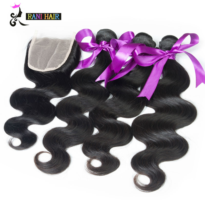 8A Brazilian Body Wave With Lace Closure Unprocessed Human Hair With Closur Ms Lula Brazilian Virgin Hair Body Wave With Closure(China (Mainland))