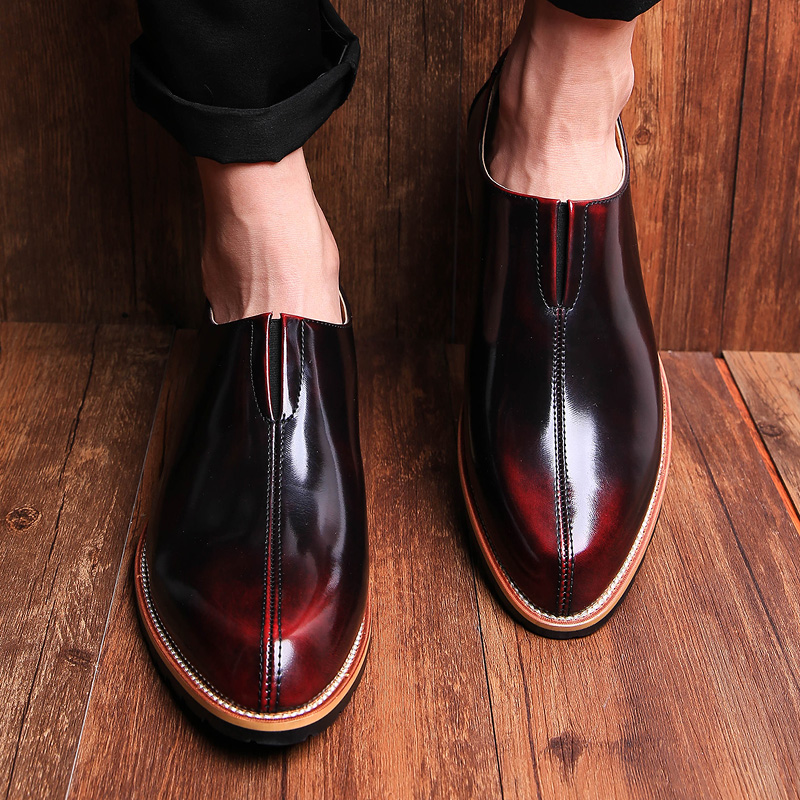 British style Men Flats Genuine leather Dress Business shoes Pointed Toe Slip-On Derby Shoes Casual Male Loafers 1.9(China (Mainland))