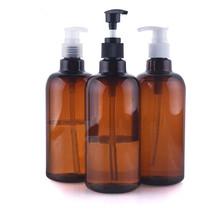 New 500ML Pump Bottle Makeup Bathroom Liquid Shampoo Travel Dispenser Bottle Container Soap Shower Gel Random Color(China (Mainland))