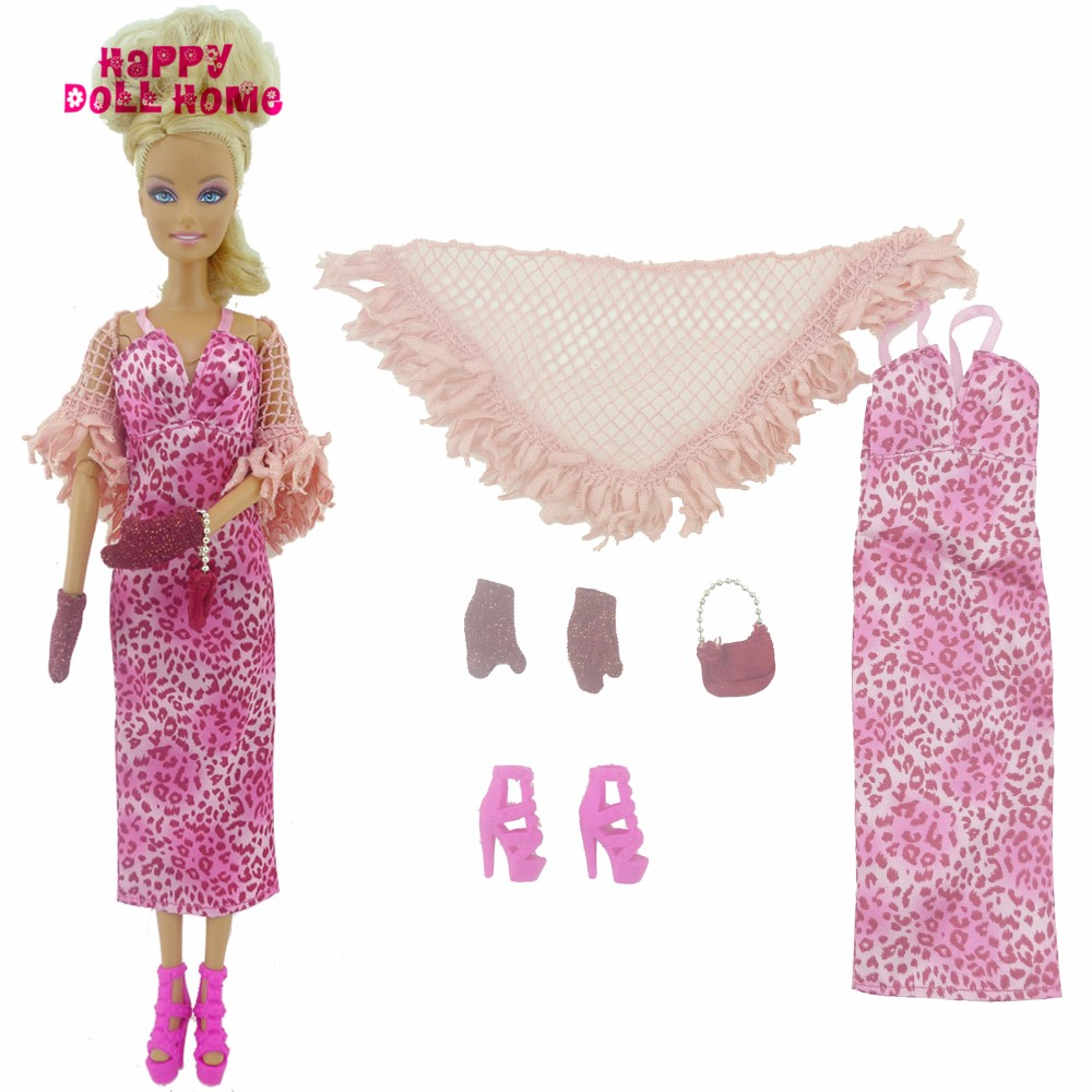 Swish Outfit Handmade Wedding ceremony Celebration Costume With Tippet Gloves Purse Excessive Heels Footwear Garments For Barbie Doll Dollhouse Present