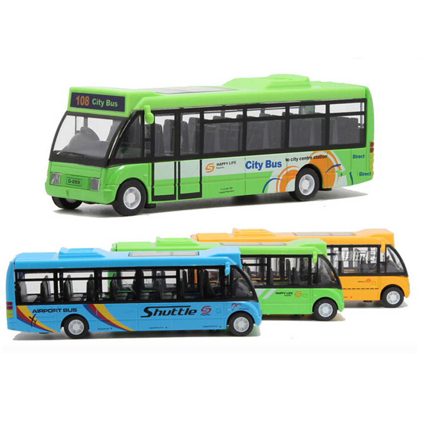 Free Shipping 2015 New Arrival School Bus Car Model Toys for Children's Christmas Present, 3 Color City Bus Kids Toys(China (Mainland))