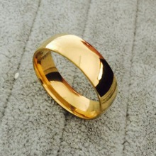 Classic tungsten carbide ring 6mm 18k gold wedding lovers rings for men women high quality USA size 6-14