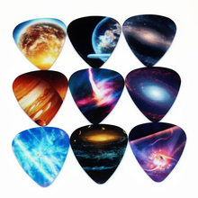 10pcs 0.71mm Universe Planet two side earrings pick DIY design Guitar Accessories  pick guitar picks(China (Mainland))