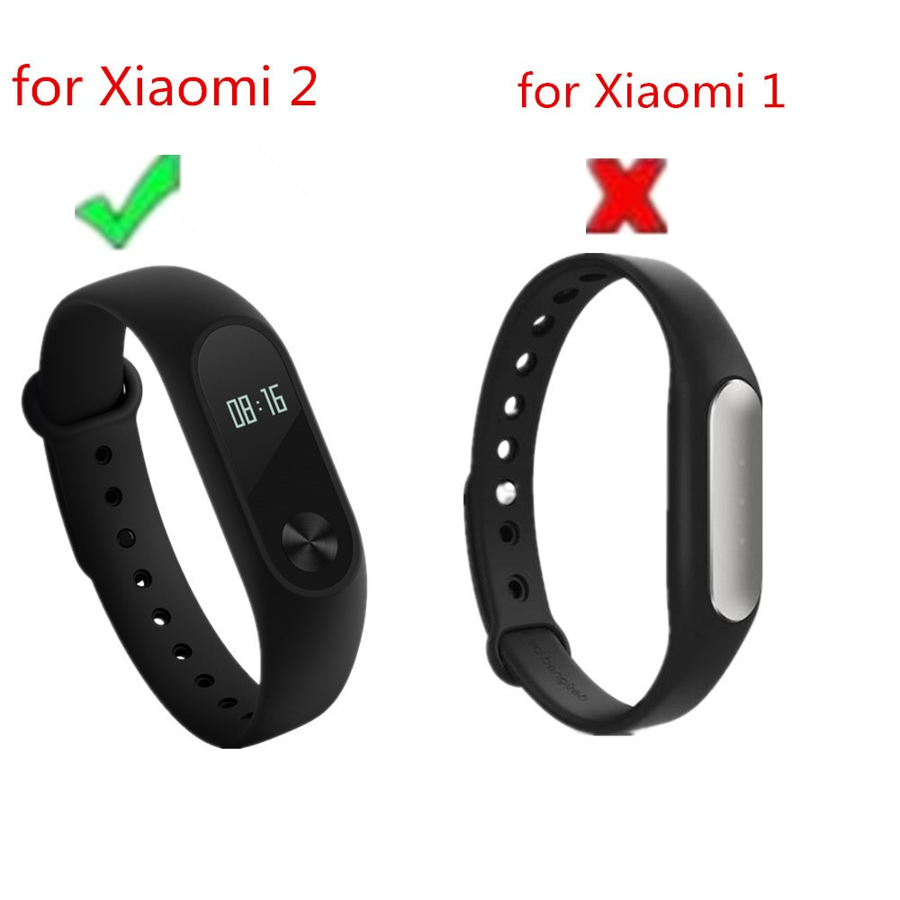 (XM2HS) 3pcs/lot T06 Replace Strap for Xiaomi Mi Band 2,Silicone Wristbands for Mi Band 2 Accessories