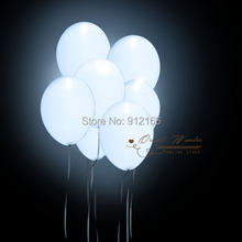 White Led Balloon  Fix Color balloon Flashing Latex Helium Inflatable Party Holiday Wedding Decoration Free Shipping 50pcs/lot(China (Mainland))