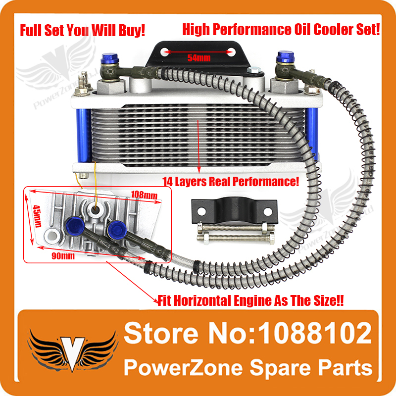 Dirt Monkey pit bike ATV Motorcycle Oil cooler radiator cooling parts 50cc 70cc 90cc 110cc  free shipping