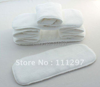 Free Shipping 20pcs Washable reuseable Baby Cloth Diaper Nappy inserts