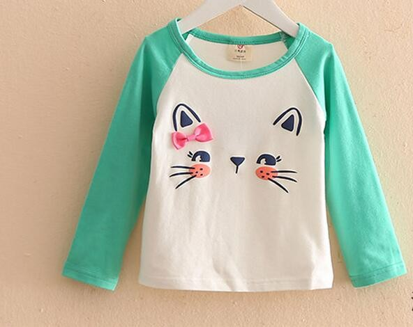 Girls Blouses Solid t Shirts Autumn Children'S Clothing Cotton Clothing For Babies Girl Children'S Clothes Baby Clothes