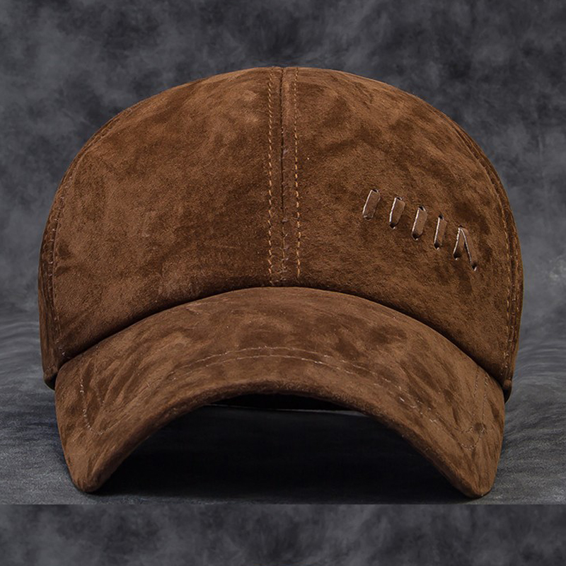 Wholesale NEW High quality Autumn winter hat for male warm head Men's baseball cap men genuine leather cowskin outdoor sport cap(China (Mainland))