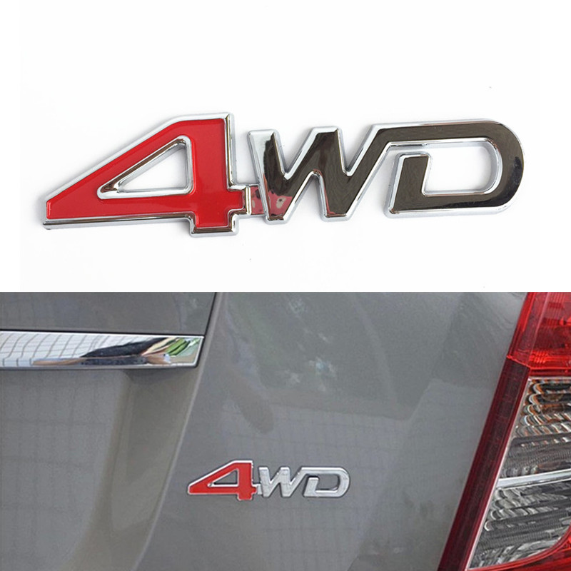 Car Tail Rear Side Metal 4x4 RC 4WD Sticker 3D Chrome Badge Emblem Decal Auto Decor Styling for SUV Ford Toyota Jeep Mitsubishi(China (Mainland))