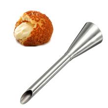 1 pz di alta qualità crema icing piping nozzle punta in acciaio inox lunga boccata nozzle tip set che decora attrezzo della pasticceria decor(China (Mainland))