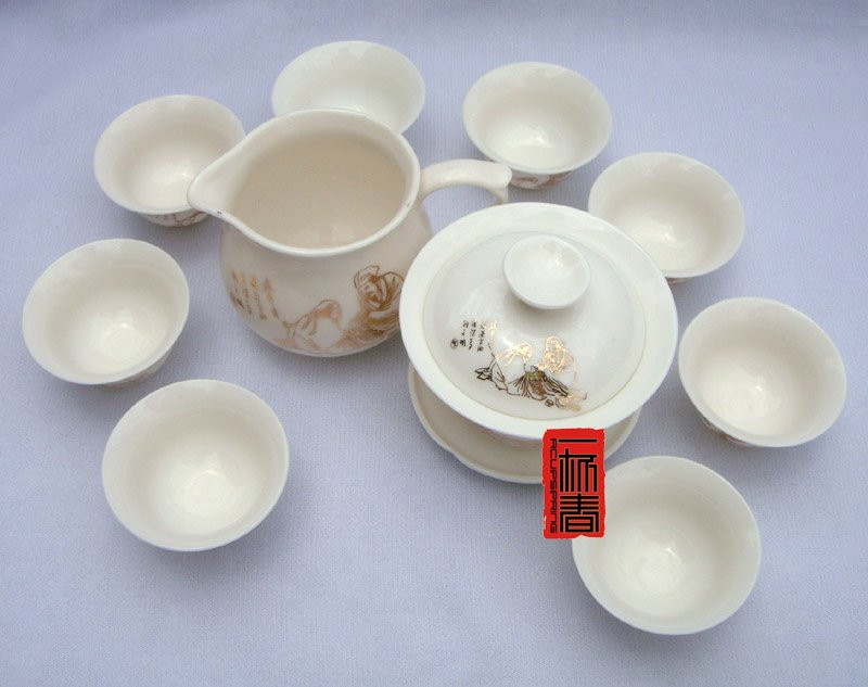 10pcs smart China Tea Set Pottery Teaset Play Chess A3TM26 Free Shipping