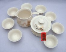 10pcs smart China Tea Set, Pottery Teaset, Play Chess,A3TM26, Free Shipping