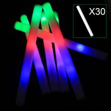 30pcs Light Up Multi Color LED Foam Stick Wands Rally Rave Cheer Batons Party Flashing Glow Stick Light Sticks E2shoppin(China (Mainland))