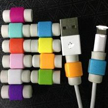 5 pcs/lot New candy color plastic digital cable protector Cord Protecotor Protective sleeves cable winder cover for iphone ipad