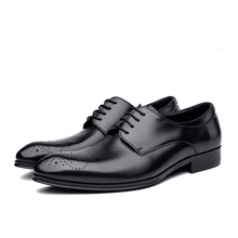 Buy Fashion carving mens derby shoes men gneuine leather business dress shoes high office work career man shoes size 37 44 for $94.80 in AliExpress store