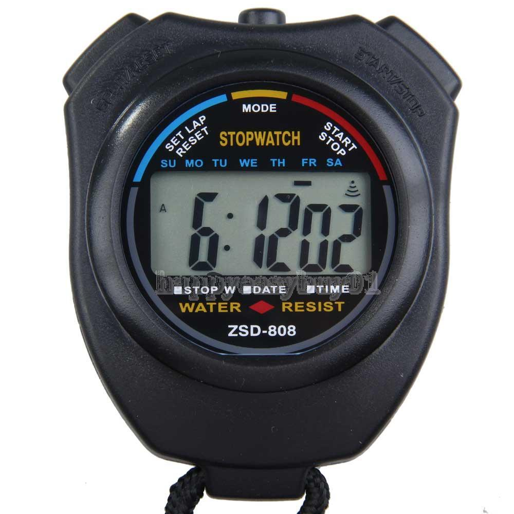 New Digital Running Timer Chronograph Sports Stopwatch Counter with Strap H1E1(China (Mainland))