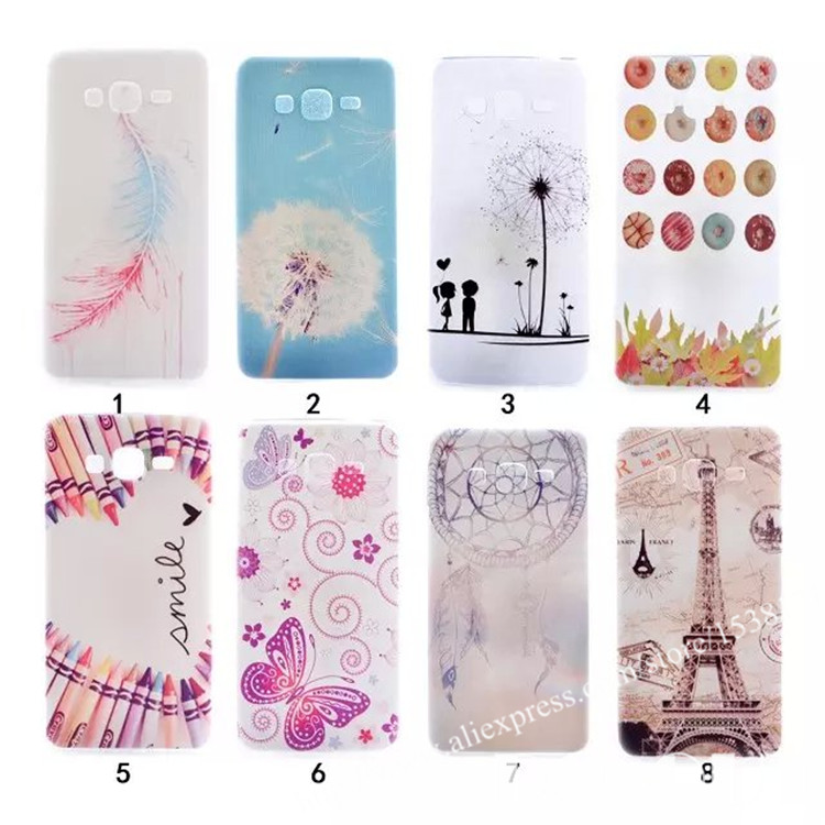 Samsung Galaxy Grand Prime G530 G530H G5308W Back Cover Soft Tpu capa para Case Feather Butterfly Wind chime Pattern capinha - Shenzhen Do-out technology Co.,Ltd store