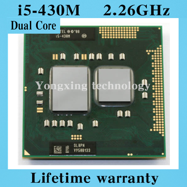 Lifetime warranty Dual Core i5 430M 2.26GHz 430 Notebook processors Laptop CPU PGA 988 Official version Computer Original(China (Mainland))